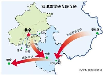 其中规划将北京地铁6号线通至河北燕郊、大兴线通至河北固安、房