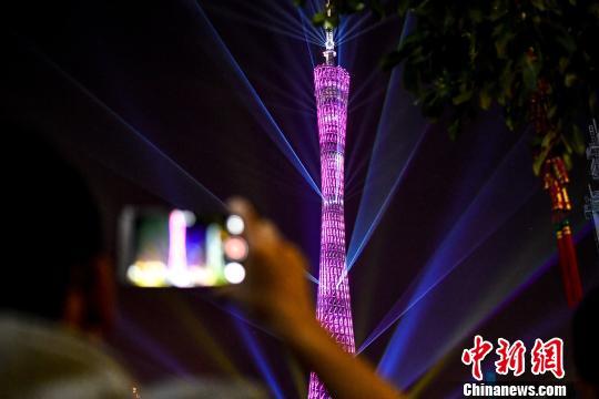 心沙亚运公园盛大开幕,11座世界名塔、地标建筑亮灯同贺花城,共