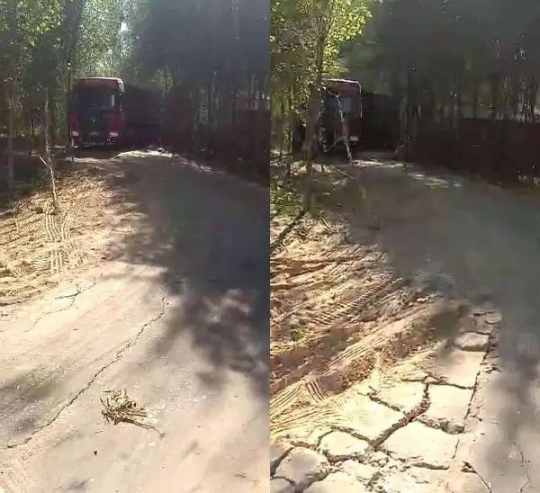 货车司机误入村道被指压坏路面,村民索赔20万