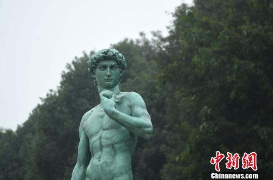 巨型 大卫 雕像亮相重庆图片