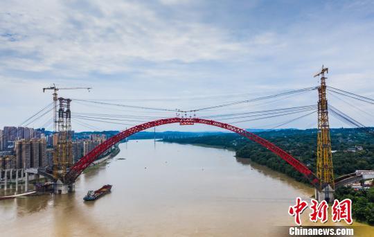 四川瀘州合江長江公路大橋主拱合龍 將結束25萬人擺渡過江史