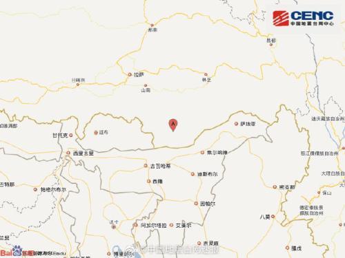 西藏山南市错那县附近发生5.8级左右地震