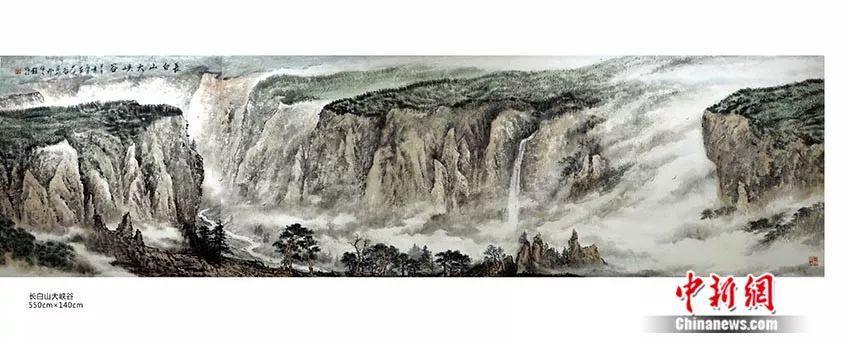 生于1949 他画祖国山河40年 60余次登顶长白山