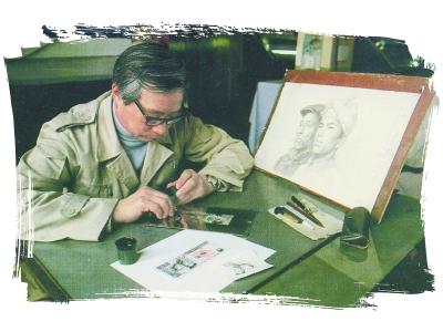 """周令钊被誉为""""国家国家,名片形象设计师"""",他开国了创作大典时天安门城哈尔滨市室内设计师电话图片"""